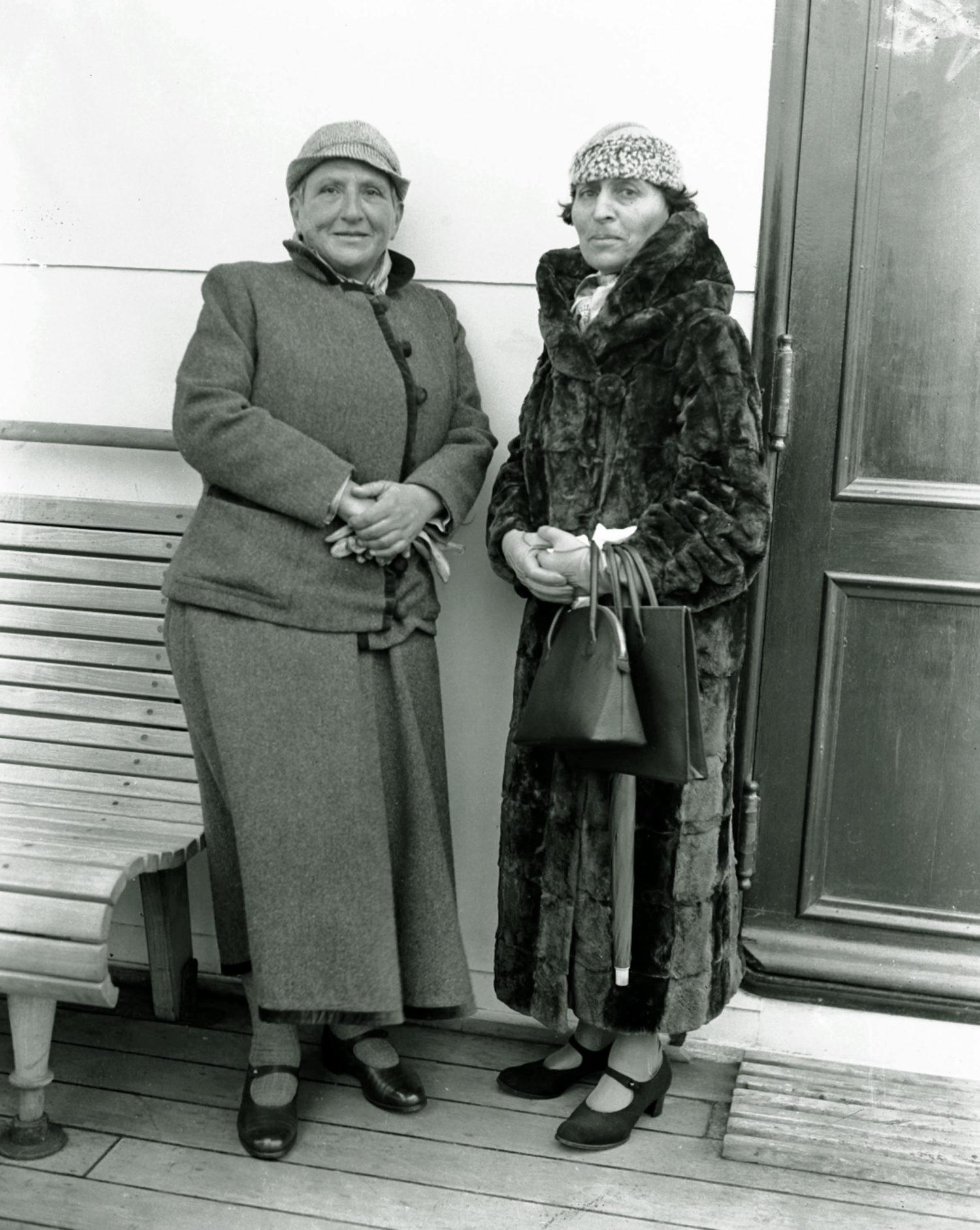 Gertrude Stein und Alice B. Toklas.