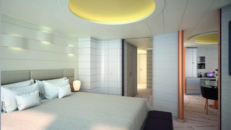 HANSEATIC inspiration Grand Suite Schlafbereich