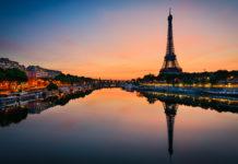 Paris Eifelturm Sonnenuntergang