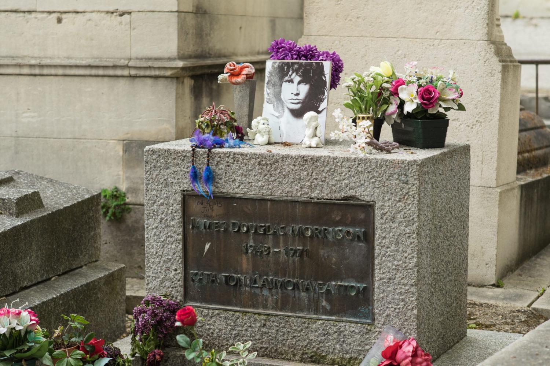 Grab des Sängers Jim Morrison