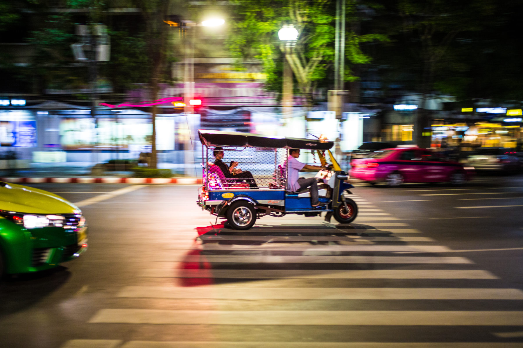 Mit dem Tuk Tuk durch Bangkok