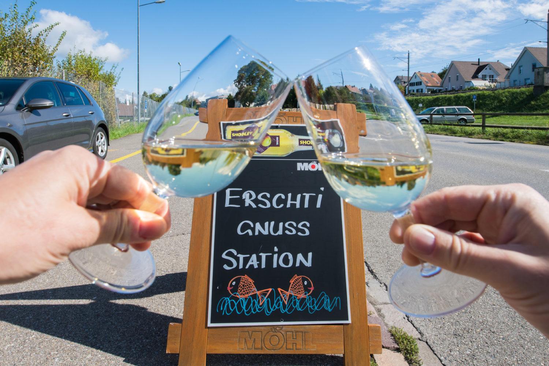 Auf der Thurgauer Gourmet-Wanderung machen die Wanderer an fünf Genuss-Stationen halt. / Bild: Thurgau Tourismus