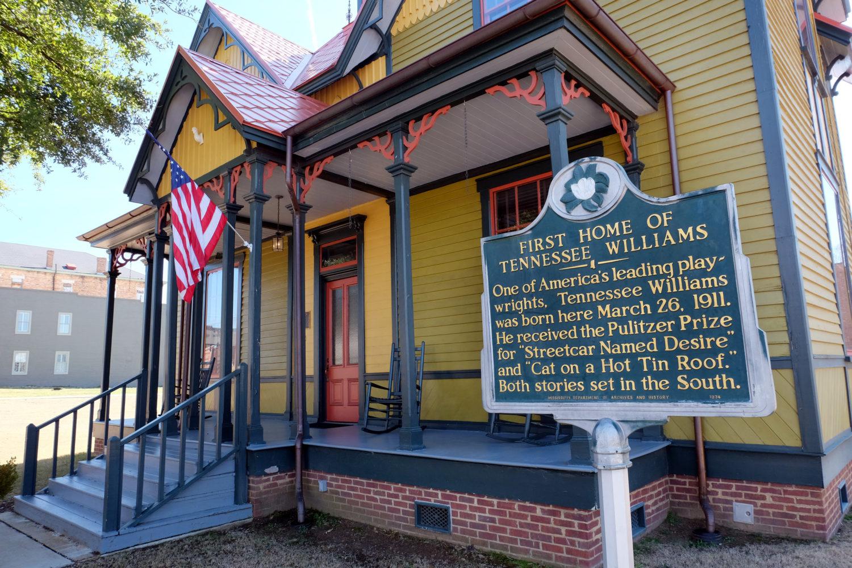 Tennessee Williams' Geburtshaus in Columbus, Mississippi. / Bild: Verkehrsbüro der Stadt Memphis und des Staates Mississippi