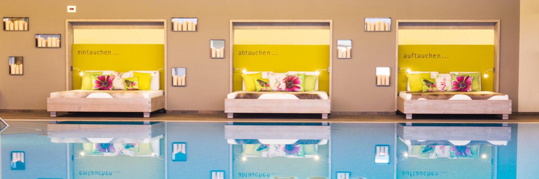 Eintauchen, abtauchen, auftauchen: Der Spa-Bereich im Parkhotel Frank gilt immer noch als kleiner Geheimtipp mit echtem Wow-Effekt. (Foto: Parkhotel Frank)